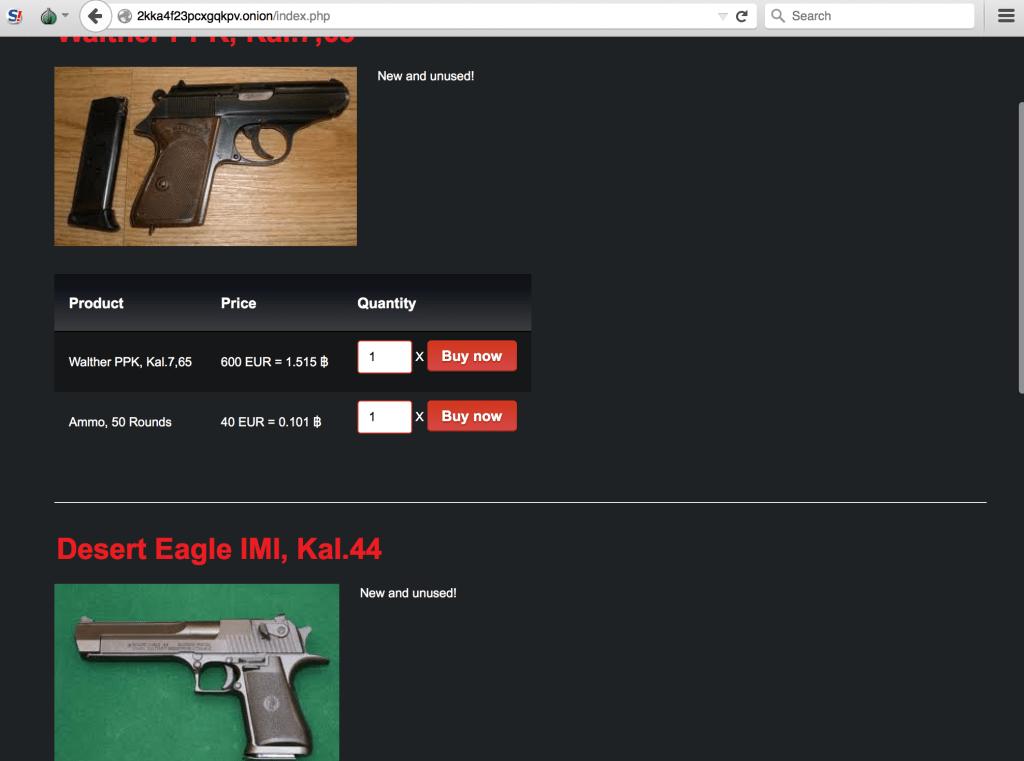 IntelliAgg Dark Web guns