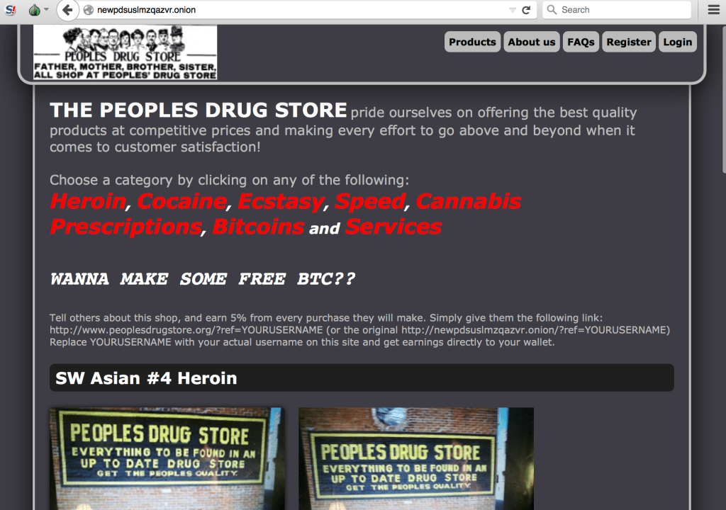 IntelliAgg Dark Web people's drug store